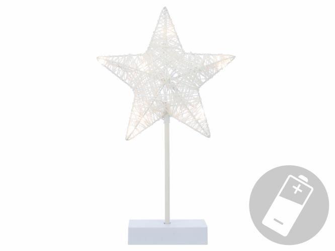 Nexos Vánoční dekorace - svítící hvězda na stojánku - 40 cm, 10 LED diod