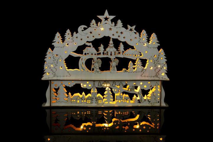 Vánoční dekorace – Vánoční krajina – 10 LED diod