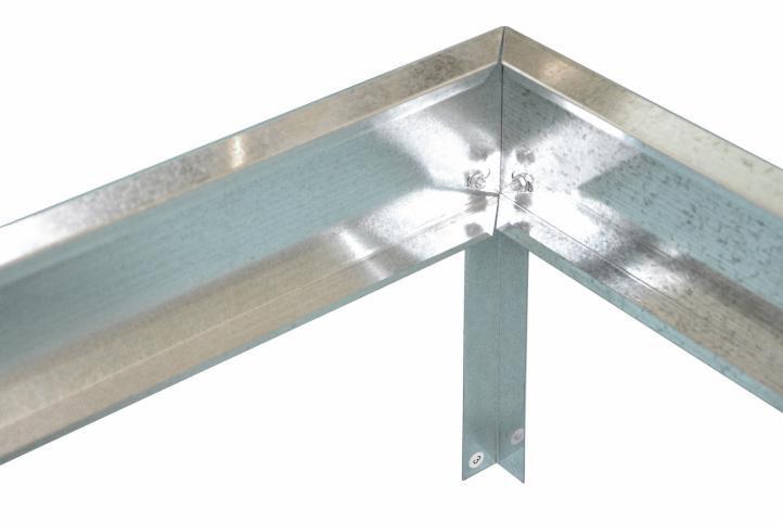 Ocelová základna ke skleníku 315 x 190 x 12 cm