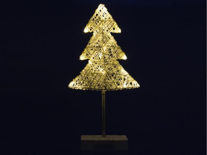 Vánoční dekorace - strom, 40 cm, 20 LED diod