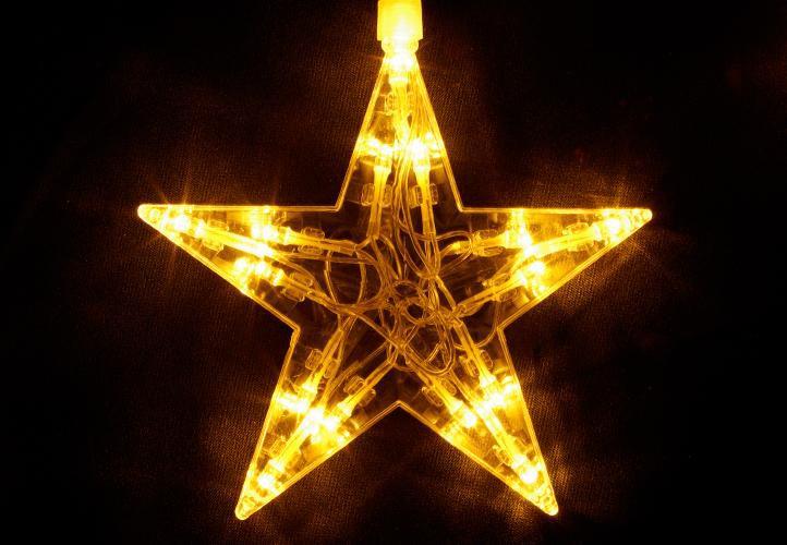 Vánoční dekorace - Svítící hvězdy - sada, 100 LED diod