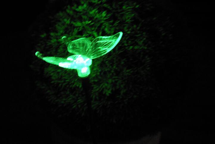 Zahradní solární LED osvětlení Motýl