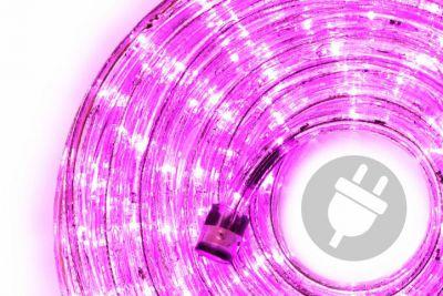 LED světelný kabel 10 m - růžová, 240 diod