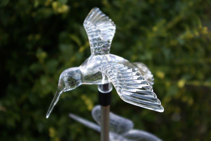 Zahradní sada solárních LED světel - Kolibřík, motýl
