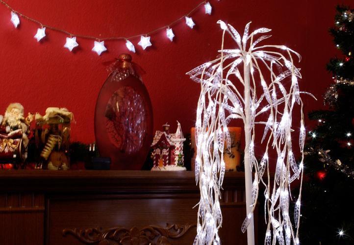 Světelná dekorace - Smuteční vrba - 140 LED diod, 85 cm