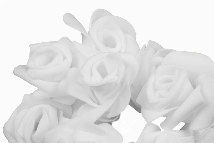 Světelná dekorace - Řetěz s růžemi - 10 LED, teple bílé