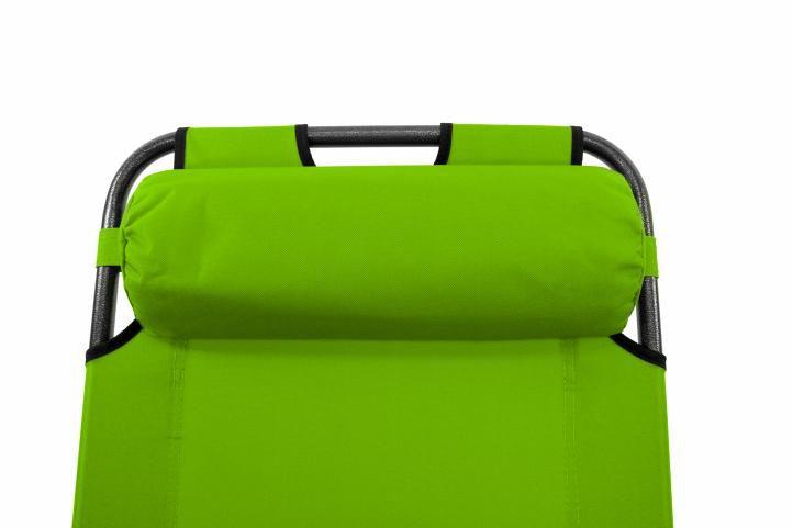 Skládací zahradní lehátko - zelená