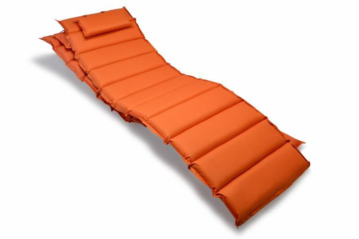 Sada 2 kusů polstrování na lehátko Garthen – oranžová