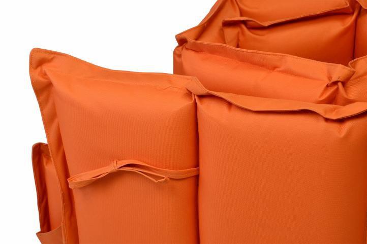 Sada 2x polstrování na lehátko Garthen - oranžová