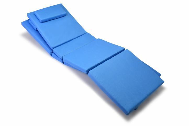 Sada 2x polstrování na lehátko Garth - modrá