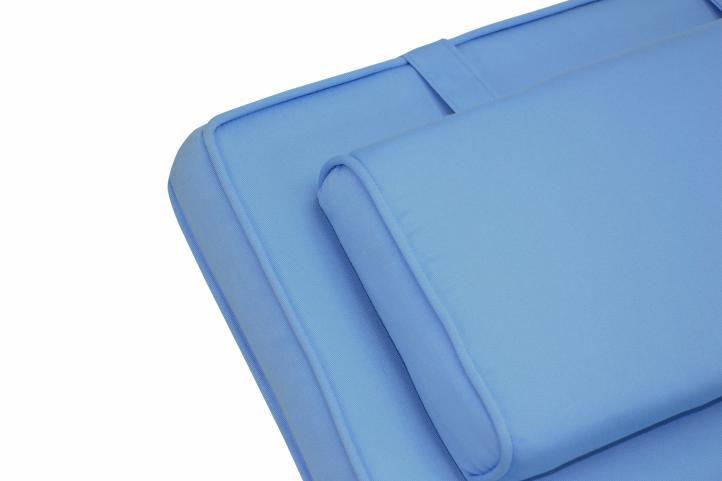 Set zahradního polstrování Garth 2 ks - světle modrá