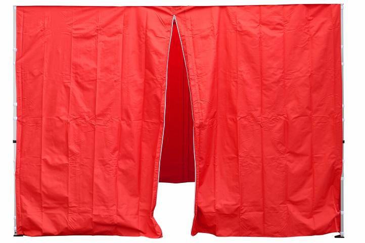 Sada 2 bočních stěn pro PROFI zahradní stan 3 x 3 m červená