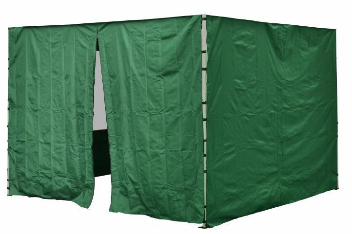 Sada 2 bočních stěn pro PROFI zahradní stan 3 x 3 m zelená