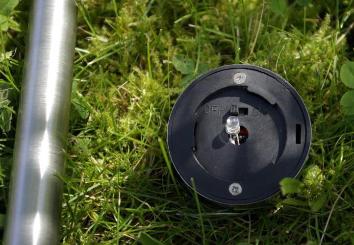 Solární zahradní LED osvětlení z nerezové oceli - sada 10 kusů