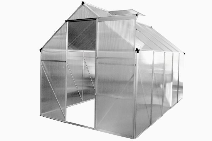 Garthen ALU skleník 250 x 190 x 195 cm - se základnou