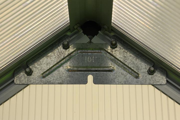 Skleník Garth 311 x 190 x 195 cm - 2 okna a spodní rám a automatický otvírač oken