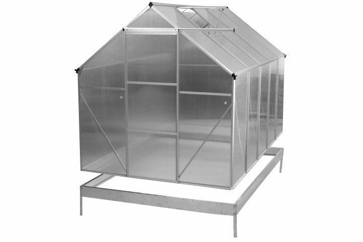 OEM D31021 ALU 250 x 190 x 195 cm spodní rám a automatický otvírač oken