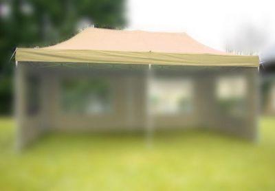 Náhradní střecha na zahradní skládací stan 3 x 6 m champagne