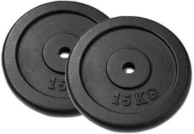 Garthen Závaží na činky 15 kg černé, 2 ks