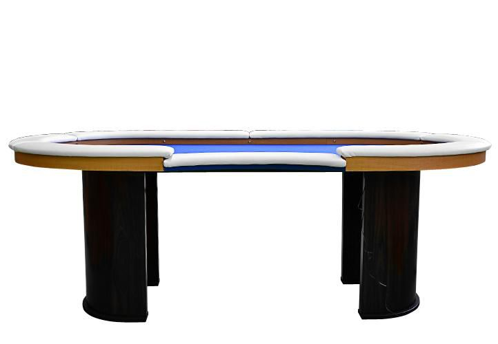 Pokerový stůl pro 10 osob s LED osvětlením