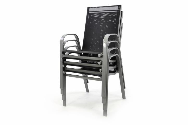 Set 4 ks zahradní stohovatelná židle - antracit