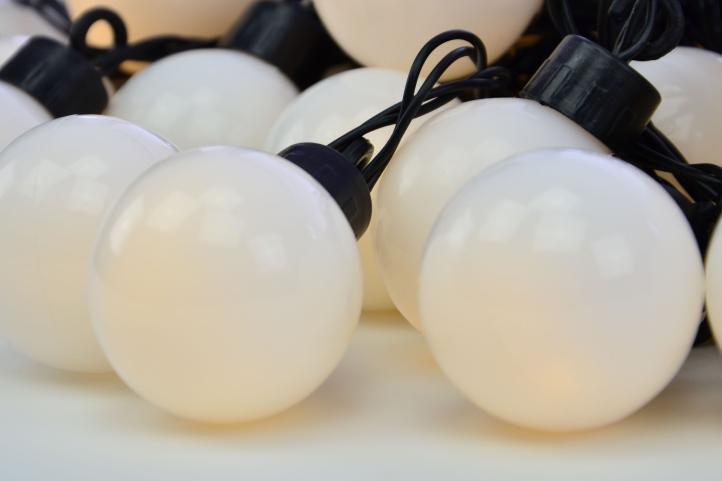 Zahradní párty osvětlení - venkovní, 20 LED, teple bílá