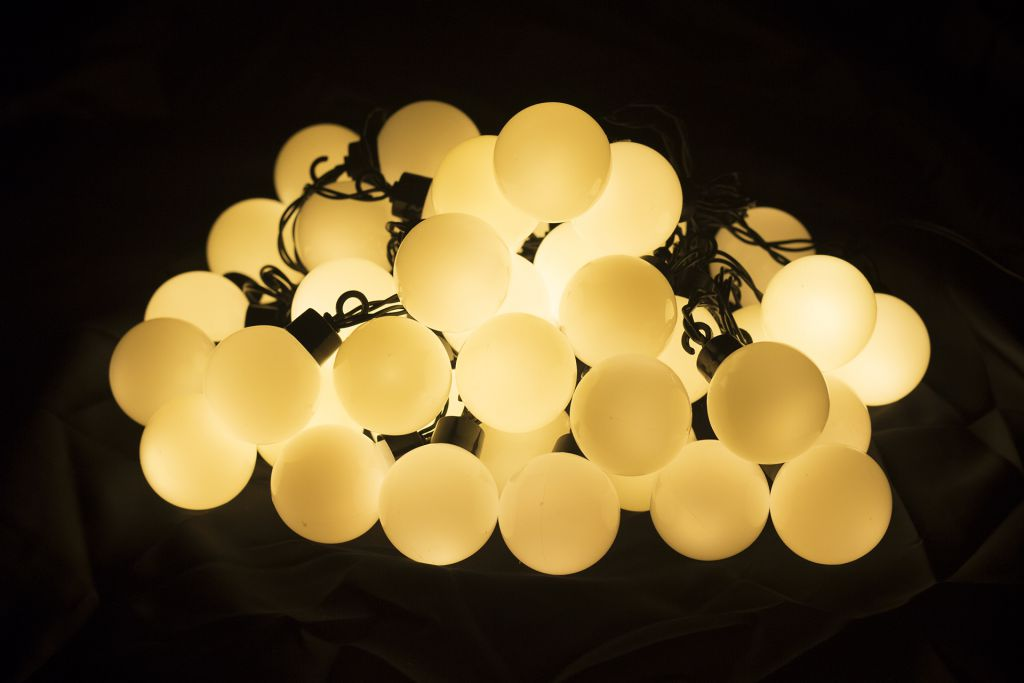 Zahradní párty osvětlení - venkovní, 40 LED, teple bílá