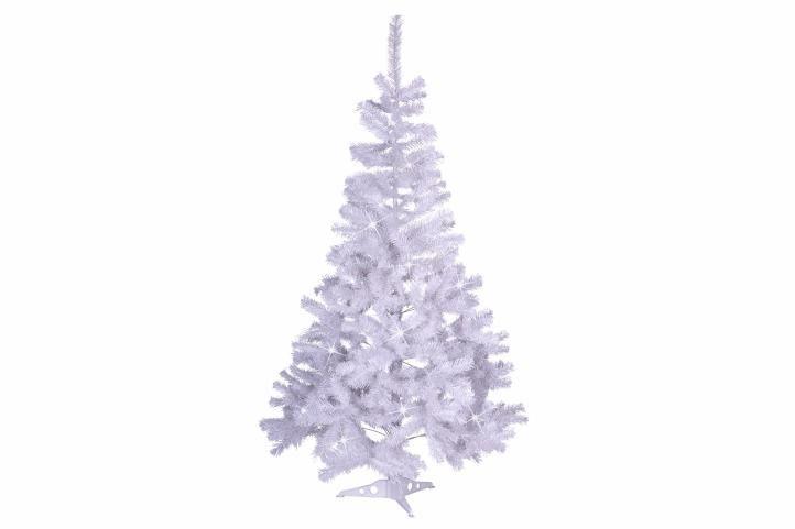 Umělý vánoční strom s třpytivým efektem - 120 cm, bílý