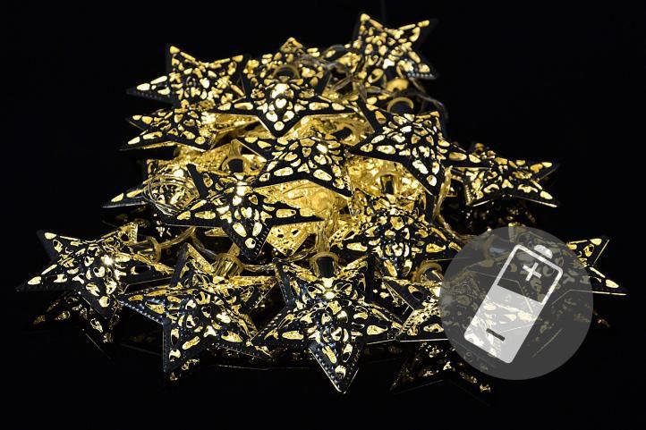 OEM D33206 vánoční LED osvětlení Zlaté hvězdy 20 LED