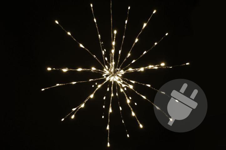 Nexos 33214 Vánoční LED osvětlení - meteorický déšť - teplá bílá, 120 LED