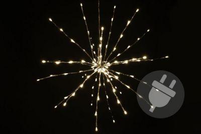 Vánoční LED osvětlení - meteorický déšť, teple bílý, 120 LED