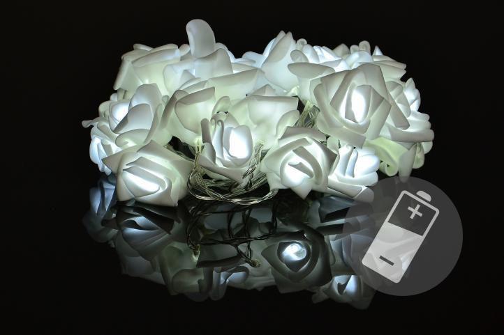 Dekorativní LED osvětlení - růže - 20 LED, studená bílá - OEM D33216