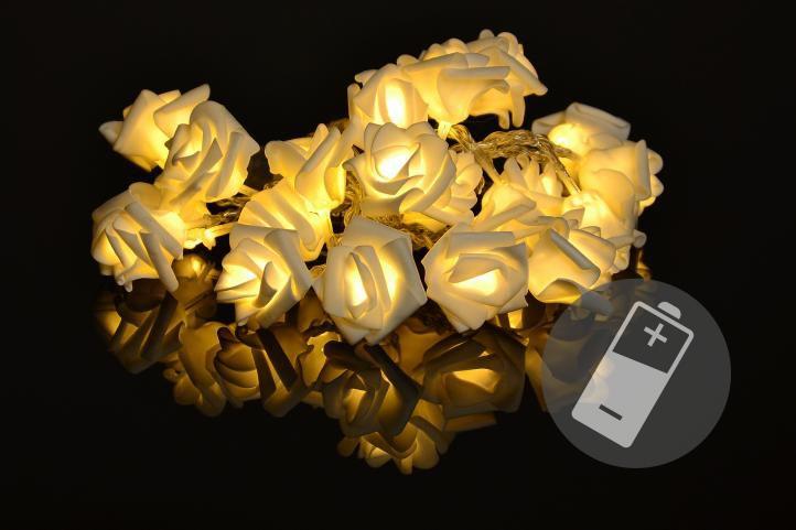 Emos 10 LED dekorační osvětlení Stříbrná koule IP20 teplá bílá