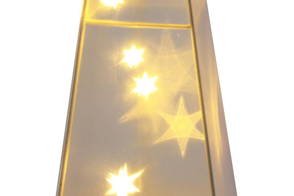 Vánoční dekorace - 3D pyradmida - teple bílá 16 LED