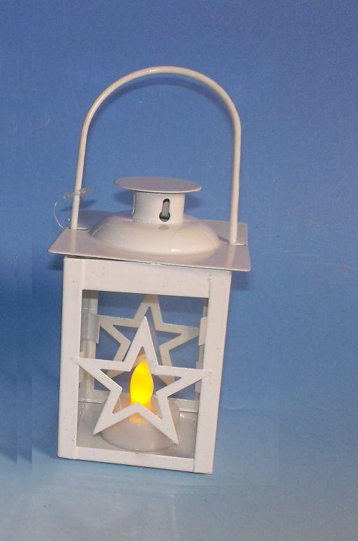 Nexos 33478 Vánoční dekorace - mini lucerna hvězda - 1 LED