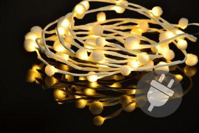Vánoční LED osvětlení - sněhové vločky - 48 LED, teplá bílá
