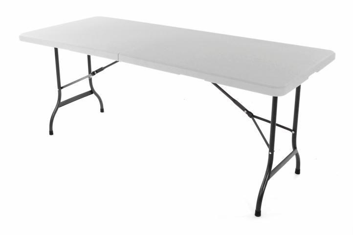 Skládací zahradní stůl Garth 183 cm + 2 lavice