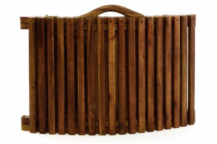 Skládací plážové lehátko Gardenay z akátového dřeva