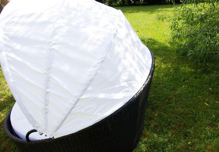 Exkluzivní polyratanová pohovka se sluneční clonou