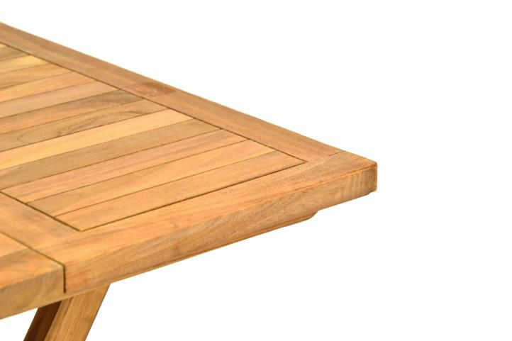 Zahradní dřevěný skládací stolek DIVERO výška 50 cm
