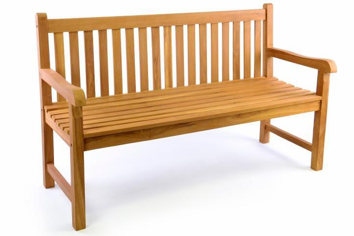 Divero 34977 Zahradní lavice 3-místná masiv 150 cm