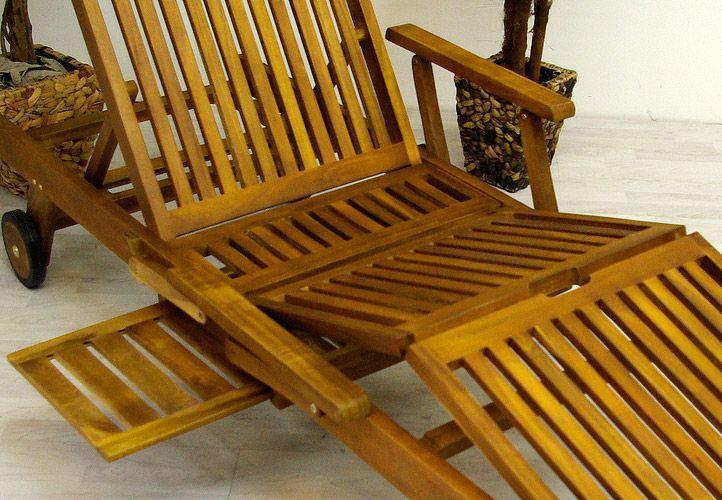 Luxusní lehátko z akátového dřeva