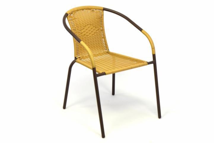 Zahradní bistro židle  – stohovatelná, béžová