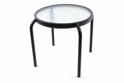 Odkládací skleněný stolek Bistro - průměr 43 cm