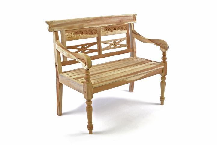 DIVERO dřevěná 2-místná lavice pro děti z teakového dřeva D35093
