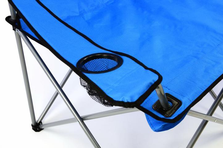 Kempingová skládací lavice Divero skládací XXL - modrá