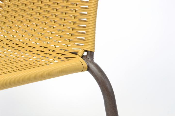 Sada 2 ks zahradní bistro židle - stohovatelná, béžová
