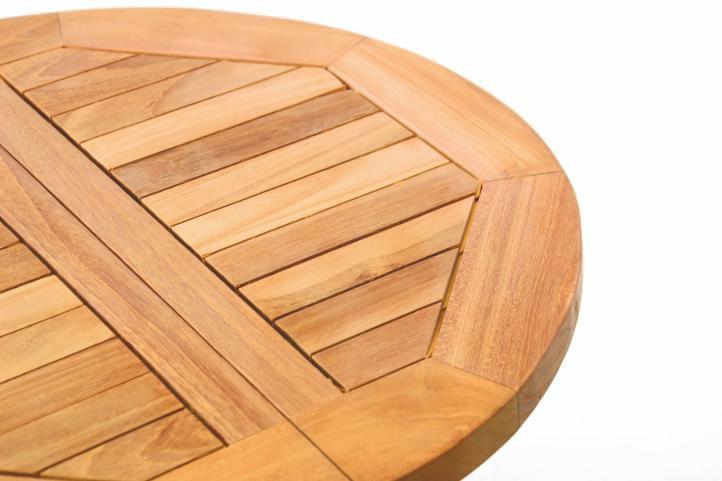 Divero dětský odkládací sklopný stolek z teakového dřeva
