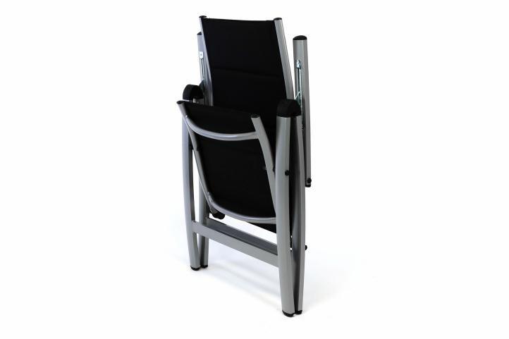 Luxusní zahradní židle s polstrováním, černá