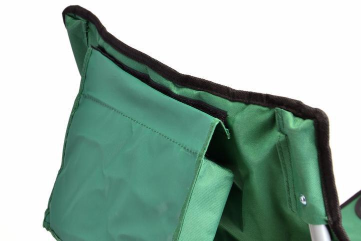 Skládací kempingová židle DIVERO s polštářkem - zelená